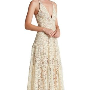Dress the Population l Melina Lace Fit &Flare Maxi